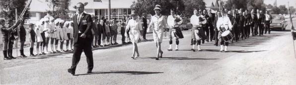 Alex Peter leads 1971 Anzac March