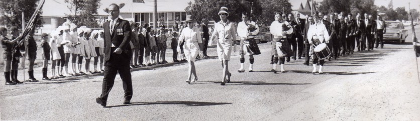 Alex Peter leads 1971 Anzac March