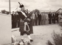 Piper at the old Cenotaph
